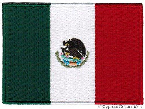 MEXICO FLAG embroidered iron on PATCH MEXICAN EMBLEM applique NATIONAL LOGO PREMIUM QUALITY DETAILED BEST FOR FITS SLEEVES HATS JACKETS VESTS BACKPACKS SCRAPBOOKS PHOTO ALBUMS (Mexico Polyester)