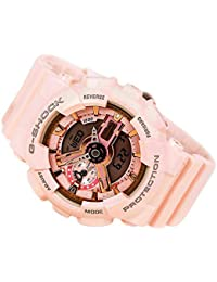 Casio G-Shock Gold and Pink Dial Pink Resin Quartz Ladies...