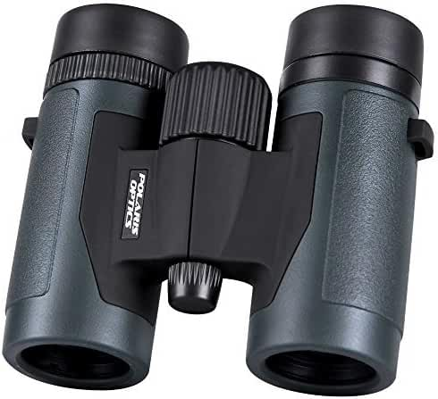 Polaris Optics Pioneer 8X32 Compact Bird Watching Binoculars. Wide View for Hours of Bright, Clear Observation. Lightweight and Durable. Great for Outdoor Sports Games and Concerts