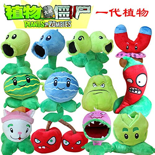 RAFGL 12Pcs/Set Plant Vs Zombie Plush Toy Doll PVZ 13-20Cm Plants Plush Toy for Kids Gift Party Toy Must Have Baby Items Funny Gifts Girl S Favourite Superhero Cupcake Toppers Animators Collection by RAFGL