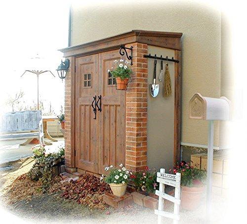 ガーデン収納 物置 ディーズシェッド カンナ D150サイズ カラー:オレンジ B0744CFQTJ