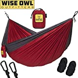 wwww Hammock for Camping – Single & Double Hammocks Gear For The Outdoors Backpacking Survival or Travel- DO Crimson & Charcoal- DoubleOwl Review