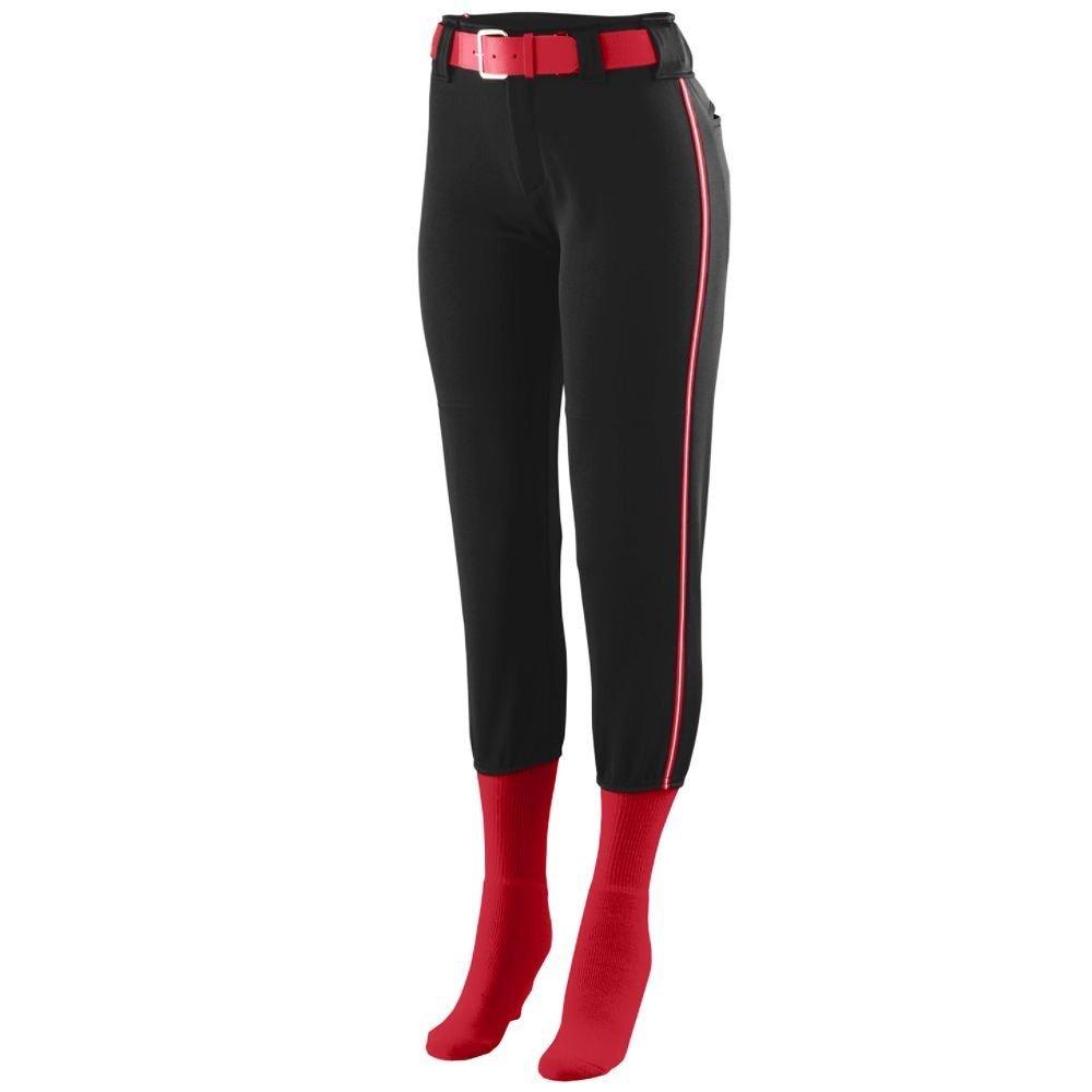 Augusta Sportswear Girls ' Collegiate Low Riseソフトボールパンツ B00GK5Q6L6 Small|ブラック/レッド/ホワイト ブラック/レッド/ホワイト Small