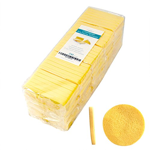 Appearus Compressed PVA Facial Sponges, 12 Ct./Pack (240 Count)