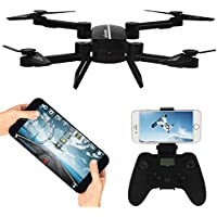 Wifi FPV RC Drone Fold Remote Control/Cell Phone Control Quadcopter Alititude Hold Gravity Sensor Helicopter Remote Control 360°Rotation With 0.3MP HD Camera Toy Drones