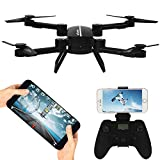 RC Helicopter With Camera - Wifi FPV RC Drone Fold Remote Control/Cell Phone Control Quadcopter Alititude Hold Gravity Sensor Helicopter Remote Control 360°Rotation With 0.3MP HD Camera Toy Drones