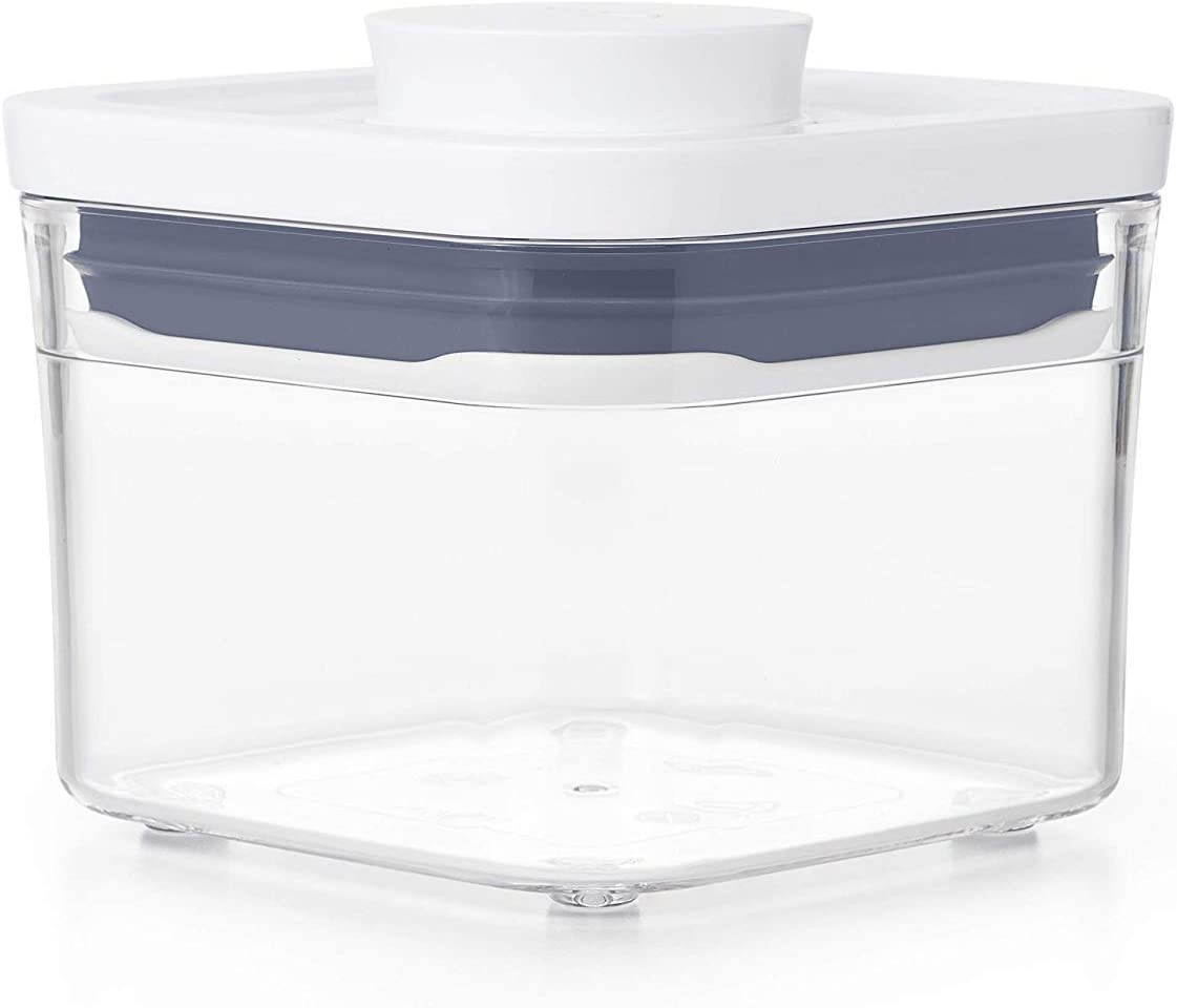 OXO Good Grips POP Container - Airtight Food Storage - 0.4 Qt Square (Set of 4) for Dried Herbs and More