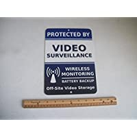 Video Surveillance Security System 7 x 10 Metal Yard Sign - Stock # 718