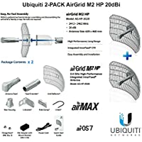 Ubiquiti Airmax 2-PACK AirGrid M2 HP 20dBi 2.4GHz CPE 100+Mbps 30km+ 17x24