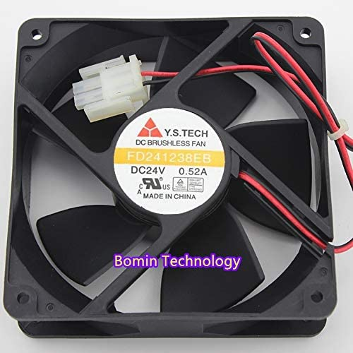 Bomin Technology for Y.S.TECH FD241238EB 24V 0.52A 12CM high air Volume Double Ball Cooling Fan