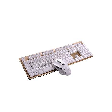 Verau Combo de Teclado y ratón inalámbricos Ultra Delgado con silenciador diseñado para Oficina y Uso