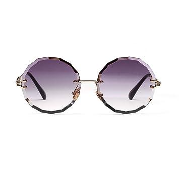 ZYT Gafas De Sol Circulares Mujer Vintage Marco De Metal ...
