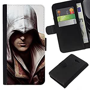 JackGot ( Asesino ) Sony Xperia M2 la tarjeta de Crédito Slots PU Funda de cuero Monedero caso cubierta de piel