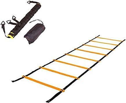 PALMFOX Escalera de Agilidad Escalera de Entrenamiento Peldaño Plano con Bolsa de Transporte: Amazon.es: Deportes y aire libre