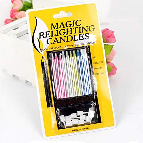 XINGKEJI Magic Relighting Birthday Candles Velas de Pastel de cumpleaños Velas de Feliz cumpleaños