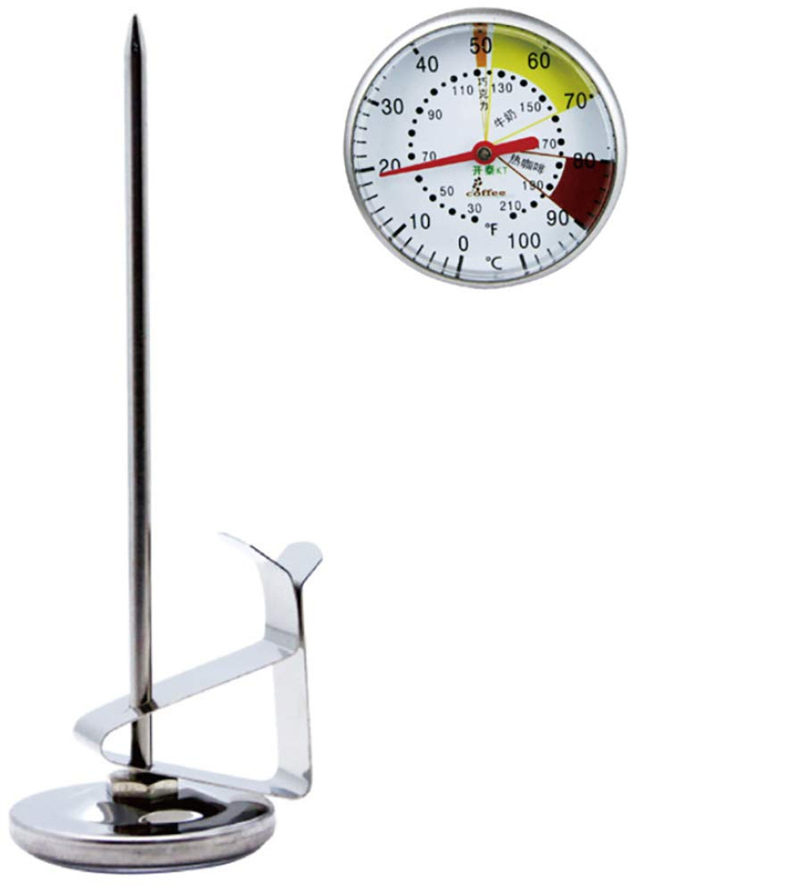 Thermometer with Instant Read,Dial Thermometer,Φ45 Stainless Steel Stem Meat Cooking Thermometer,Best for Turkey,BBQ,Grill Coffee Temperature and Milk Temperature Temperature Range:0℃~100℃/ 30℉~210℉
