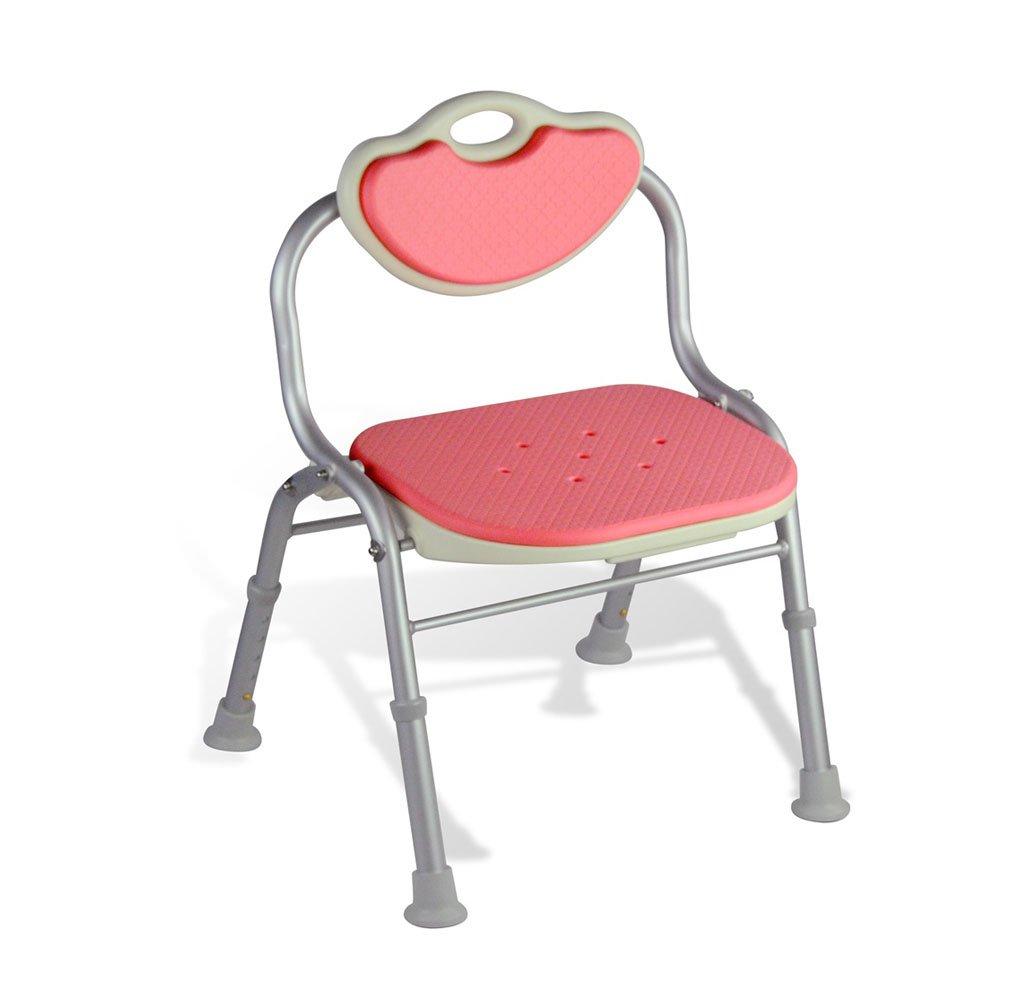 新しい到着 コンフォート背もたれ折り畳み式バスチェア高齢者/身体障害者/妊娠可能な調節可能な高さアルミ合金製のバススツールアンチスリップチェア最大。 80kg(ピンク) B07FLQTMP6 B07FLQTMP6, 快適パラダイス:e68eb3e3 --- ciadaterra.com