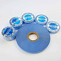 SHOWJARLLY 3 Yards Lace Front Wig Support Tape Roll 8mm Wide Strong Adhesive Double Sided Blue Hair Replacement Tape for Skin Weft Hair Toupees Beards and Wigs Water-Proof