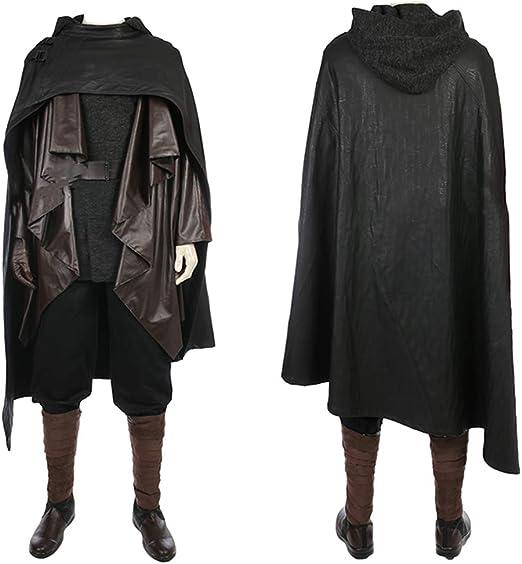Star Wars Luke Skywalker Cosplay Costume Halloween Coaplay Black Suit Costume