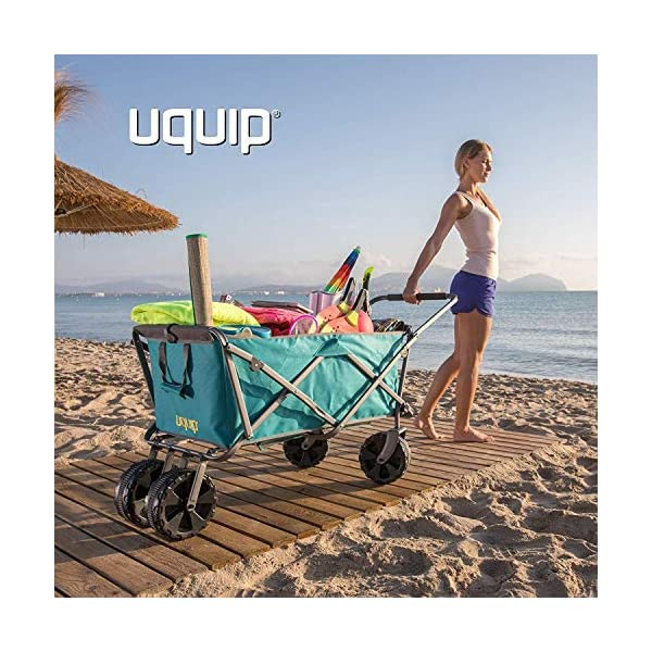Uquip Beach Buddy - Carrello da Spiaggia Pieghevole con capacità Fino a 100 kg 6 spesavip