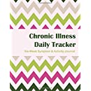 Chronic Illness Daily Tracker - 6 week: 6 Week Symptom & Activity Journal - Watermelon Chevron