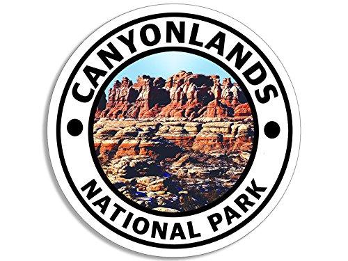 American Vinyl Round Canyonlands National Park Sticker (Hike Travel rv ut Utah Colorado River)