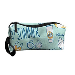 Storage Bags Toiletry Bag Clutch Bag Drug Funny I Love SUNMMER Sea Eyeglass Small Cosmetic Bag With Zipper