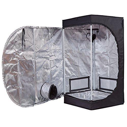 Hongruilite 24''x24''x48'' 36''x20''x63'' 32''x32''x63'' 48''x24''x60'' 48''x24''x72'' 48''x48''x78'' 96''x48''x78'' Hydroponic Indoor Grow Tent Room w/Plastic Corner (2'X2'X4') by Hongruilite