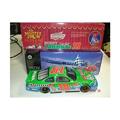 2002 Bobby Labonte Interstate Batteries Pepe Muppets 25th Anniversary Paint Scheme Dodge Intrepid R/T Action Racing 1/24 Scale Hood, Trunk Opens Limited Edition Action Racing Collectables ARC