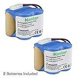 Kastar V1930 Battery (2 Pack), Ni-MH 4.8V 3800mAh, Replacement for Euro Pro Shark X1725QN, V1700Z, VX1, VAC-V1930, V1930, X8905 Cordless Sweeper Vacuum Cleaner