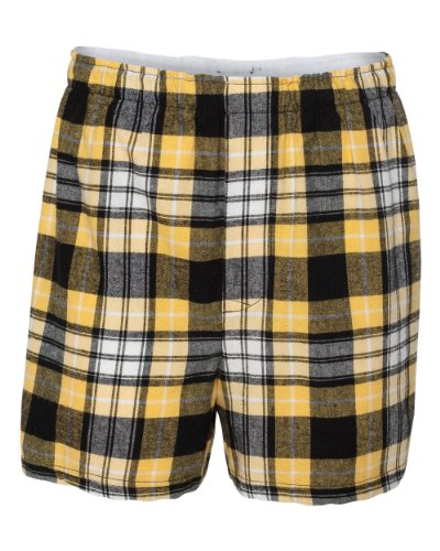Boxercraft Adult Classic Flannel Boxers - Black/Gold - 2XL