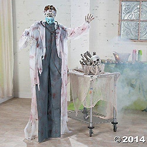 HALLOWEEN LIFESIZE 5 1/2' HANGING DOCTOR OF DEATH W/ FLASHING EYES AND SCARY HALLOWEEN NOISES (Halloween Doctors)