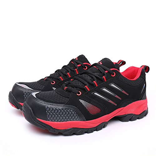 shoes toe steel Black Red amp;construction unisex proof industrial shoes puncture shoes work safety qFdCY