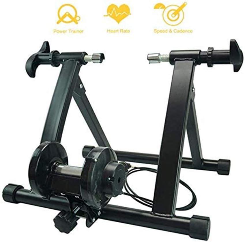 D&F Rodillo Magnético De Ciclismo Rodillo Entrenamiento Bicicleta Plegable Resistencia, para Bicicleta De Carretera Ruedas de 26