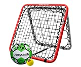 Crazy Catch Wildchild Double Trouble Rebounder Net - with 2 balls! (Football & Visionball) (93x93cm)