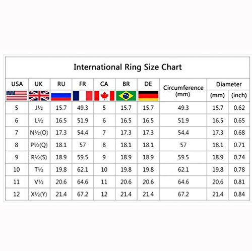 XBKPLO Rings for Women's Navy Blue Zircon Fine Ring Wedding Accessories Jewelry Gift Size 6-10