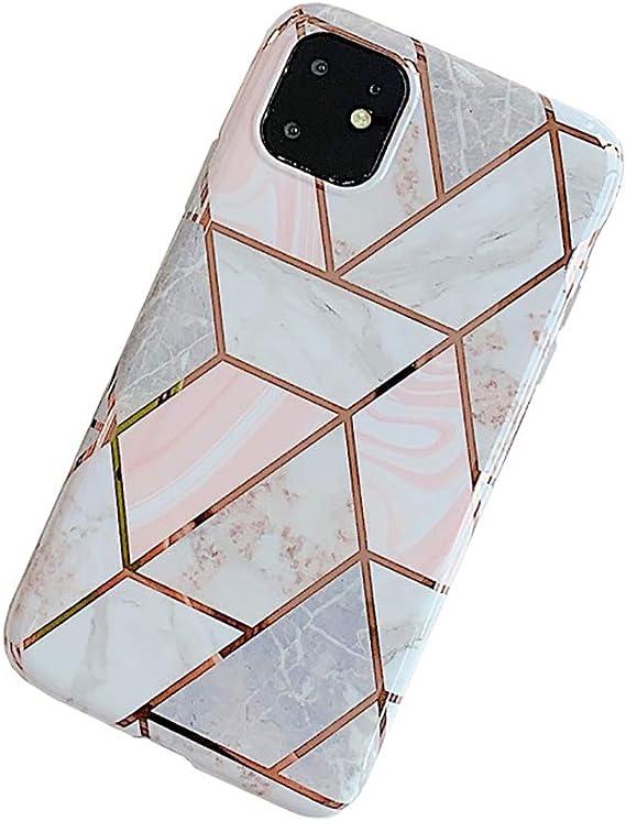 Amazon Com Oifen Iphone 11 Pro Case Rose Gold Marble Clear Bumper Matte Tpu Soft Rubber Silicone Case Pink Diamond