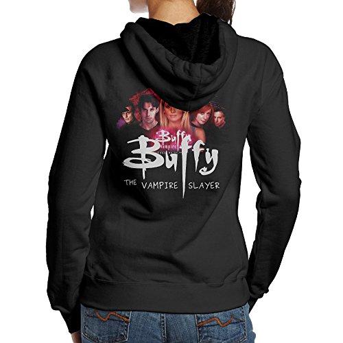 [YYUCGH Buffy The Vampire Slayer Women's Pullover Hoodie Sweatshirts XL Black] (Buffy The Vampire Slayer Movie Costume)