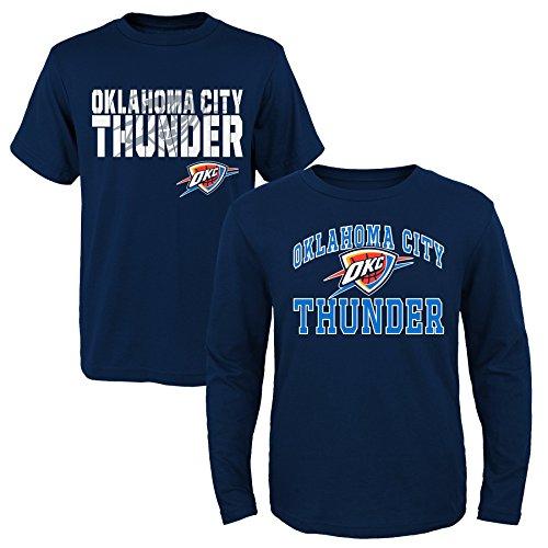 NBA Youth Boys 8-20 Thunder 2Piece Long & Short sleeve Tee Set