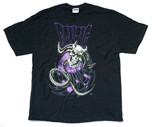 Real Swag Inc Danzig Demonio Nera Skull Spine Black T Shirt (XL)