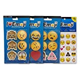 Emoji Erasers + Sticker Pack | 18 Awesome Erasers + 280 Emoticon Stickers Most Wanted Item