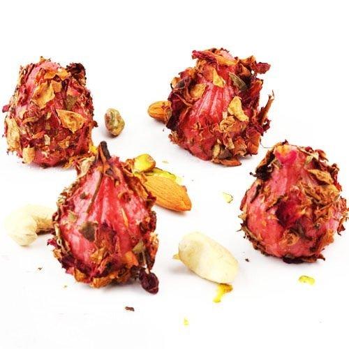 (Ghasitaram Gifts Ganesha Chaturthi Gifts, Strawberry Rose Petal Modak, 200g)