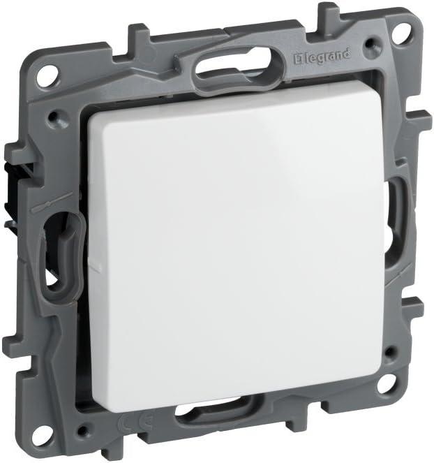 Legrand, 396501 Niloé - Interruptor conmutador para empotrar, interruptor para interior, color blanco