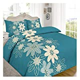 Rimi Hanger Luxury Suede Patch Lynda Keep Calm Duvet Cover Reversible Bedding Set Lynda Teal King Size