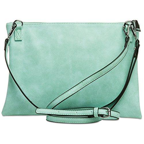 CASPAR Fashion - Cartera de mano para mujer verde menta
