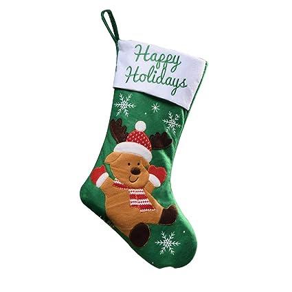 Doitsa Calcetines, Santa Claus, Clásico Gran Capacidad, Árbol de Navidad Decorado Ventana Cabecera