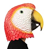 PartyCostume Deluxe Novelty Halloween Costume Party Latex Animal Head Parrot Mask