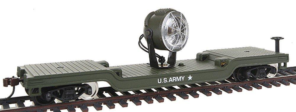 Model Power HO Flat w/Searchlight, US Army MDP98664 by Model Power