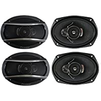 4) Pioneer 6x9 Inch 3-Way 420 Watt Car Coaxial Audio Stereo Speakers | TS-A6966R