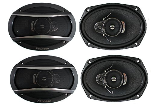 4 Pioneer 6x9 Inch 3-Way 420 Watt Car Coaxial Audio Stereo Speakers | TS-A6966R (Pioneer Way 6x9 3)